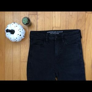 American Eagle Black High Waisted Jeans